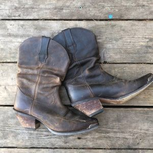 Durango brown leather cowgirl boots sz 8.5